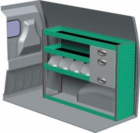 edstrom swb ford transit connect pre 2014 van shelving and. Black Bedroom Furniture Sets. Home Design Ideas